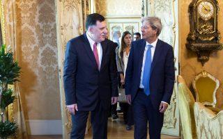Οι πρωθυπουργοί της Ιταλίας και της Λιβύης συμφωνούν στην επίτευξη εκεχειρίας στη Λιβύη.