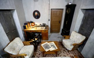A replica of the original bunker office of German Nazi leader Adolf Hitler is pictured during a media tour of the exhibition entitled 'Hitler - How Could it Happen?' in a World War Two bunker in Berlin, Germany, July 27, 2017. REUTERS/Fabrizio Bensch     TPX IMAGES OF THE DAY