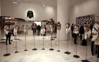 Αποψη από τα εκθέματα στο Εθνικό Μουσείο Σύγχρονης Τέχνης.