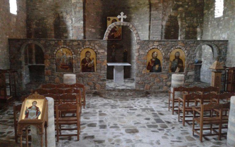 Επαναλειτουργεί μετά από 77 χρόνια ο ιερός ναός της Κοιμήσεως της Παναγίας Γράμμουστας