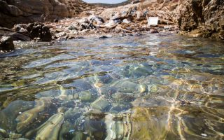 Φωτογραία που εικονίζει την παραλία Βουρκαριά στην Ηρακλειά