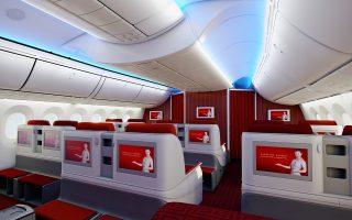 Η Hainan Airlines, θυγατρική της HNA Group, έχει εξελιχθεί από μικρή αεροπορική εταιρεία σε έναν από τους λίγους κινεζικούς κολοσσούς με παρουσία στο εξωτερικό. Στη φωτογραφία, διακρίνουμε το πολυτελές εσωτερικό ενός εκ των αεροσκαφών της.