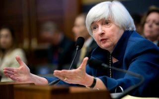 H πρόεδρος της αμερικανικής ομοσπονδιακής κεντρικής τράπεζας των ΗΠΑ (Fed), Τζάνετ Γέλεν.