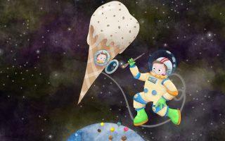 «Το μαγικό παγωτό» των Νίκου Ράμμου (κείμενο) και Γιώργου Πετρίδη (εικόνες), εκδ. Ιπτάμενο Κάστρο. Για παιδιά από πέντε ετών και άνω.