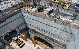 Το εργοτάξιο του μετρό απέναντι από το Δημοτικό Θέατρο. Φωτογραφίες: Ορέστης Σεφέρογλου