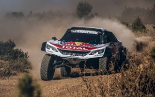Carlos Sainz performs during a test session with the Peugeot 3008DKR Maxi in Fontjoncouse, France on 14 June 2017 // Flavien Duhamel/Red Bull Content Pool // P-20170626-00251 // Usage for editorial use only // Please go to www.redbullcontentpool.com for further information. //