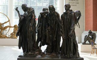 «Οι αστοί του Καλαί» του Ογκίστ Ροντέν (πρόπλασμα 1884-85, χύτευση 1985). Μητροπολιτικό Μουσείο Νέας Υόρκης.