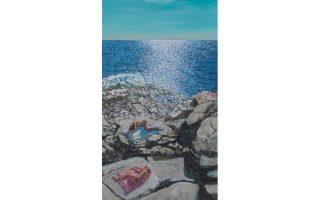 Εργο της ζωγράφου Μαρίας Φιλοπούλου, που θα εκτεθεί στο αφιέρωμα με τίτλο «Περί Σωμάτων» στη Σύρο.