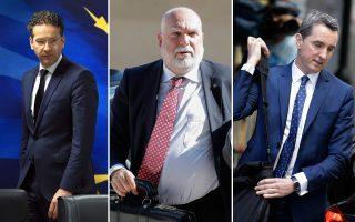 Γ. Ντάισελμπλουμ, Τ. Βίζερ και Ντ. Κοστέλο, ενδεχομένως με διαφορά μερικών εβδομάδων, «αφήνουν» τα ελληνικά προγράμματα.