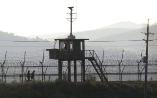 Φυλάκιο κοντά στα σύνορα με τη Βόρεια Κορέα.