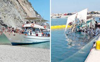 Το πλοιάριο «Θεοδώρα» για 19 συναπτά έτη, κάνοντας τον περίπλου του νησιού των Μεγάλων Θεών, έδινε τη δυνατότητα στους επισκέπτες να κολυμπήσουν σε παραλίες όπου δεν υπήρχε πρόσβαση με άλλο μέσο.
