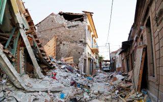 Το χωριό υπέστη σχεδόν ολική ισοπέδωση από τον σεισμό.
