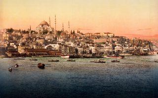 Aποψη της Κωνσταντινούπολης, την εποχή που η Οθωμανική Αυτοκρατορία βίωνε ισχυρούς κλυδωνισμούς.