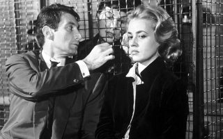 Μορίς Ρονέ και Ζαν Μορό στο «Ασανσέρ για δολοφόνους» του Λουί Μαλ (1958).