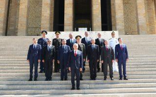 Ο Τούρκος πρωθυπουργός Γιλντιρίμ με μέλη του Ανώτατου Στρατιωτικού Συμβουλίου.
