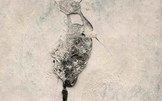 Επηρεασμένος από τον Θάνο Τσίγκο, ο Δημ. Φατούρος στρέφεται σε αφαιρετικά έργα όπως το εικονιζόμενο.