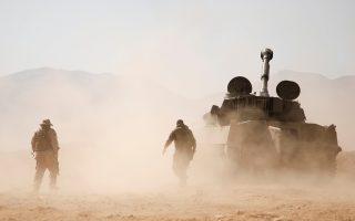 Μαχητής της Χεζμπολάχ στο δυτικό Καλαμούν της Συρίας.
