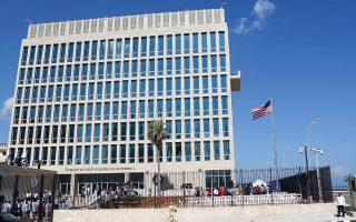 Το κτίριο της αμερικανικής πρεσβείας στην Αβάνα. Προβλήματα ακοής παρουσίασε και ένας Καναδός διπλωμάτης.