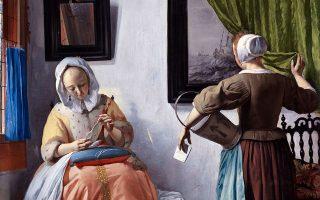 Εργο του Ολλανδού ζωγράφου Gabriel Metsu «Γυναίκα διαβάζει επιστολή» (μέσα δεκαετίας 1660). Ανήκει στην Εθνική Πινακοθήκη της Ιρλανδίας, στο Δουβλίνο.