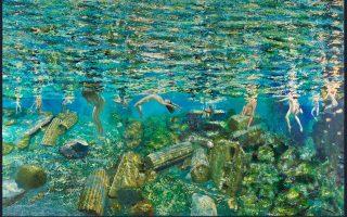 Οι τρεις καλλιτέχνες συνεκθέτουν στην έκθεση με τίτλο «Περί σωμάτων» στην Πινακοθήκη Κυκλάδων, στην Ερμούπολη. Κοινός άξονας το γυμνό. Η έκθεση θα διαρκέσει έως τις 3 Σεπτεμβρίου.