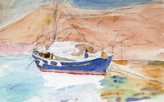 H Aίγινα ήταν ο τόπος όπου ο ζωγράφος πέρασε τα καλοκαίρια του από τα μέσα της δεκαετίας του '30 και την αποτύπωσε σε πολλά έργα του.