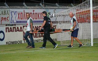 Ο Μολέντο θα μείνει εκτός αγωνιστικής δράσης για έναν μήνα μετά την εξάρθρωση αγκώνα που υπέστη στο ματς με τον Πλατανιά.