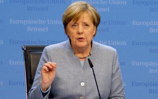 Η Γερμανίδα καγκελάριος Αγκελα Μέρκελ ευχήθηκε στην Ελλάδα κάθε επιτυχία και αναγνώρισε ότι η ζωή είναι δύσκολη για πολλούς Ελληνες. Εξέφρασε, όμως, την πεποίθηση ότι η Ελλάδα θα επωφεληθεί από τη δημιουργία περισσότερων θέσεων εργασίας και τη σταδιακή βελτίωση του επιπέδου ευημερίας, που σημειώνεται σε όλη την Ε.Ε.
