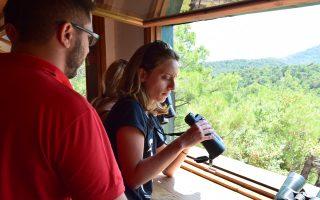 Στο παρατηρητήριο αρπακτικών πουλιών στη Δαδιά όλοι είχαν την ευκαιρία να παρατηρήσουν γύπες, αετούς, όρνια στο περιβάλλον τους.