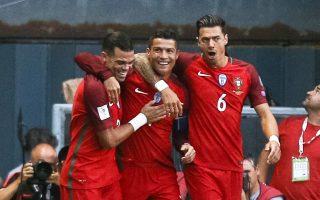 Με το χατ τρικ του στον αγώνα με τα Νησιά Φερόε, ο Ρονάλντο (μέσον) έφτασε τα 78 γκολ με την Πορτογαλία.
