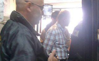 Η στιγμή της σύλληψης του Δ.Κ. το 2013, σε φωτογραφία που παραχωρήθηκε στην «Κ» από τις κοσταρικανές αρχές. Η δίκη ξεκινάει στις 11 Σεπτεμβρίου.