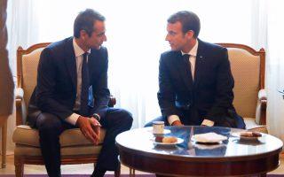 «Η Γαλλία είναι μια σημαντική χώρα που μπορεί να συμβάλει με σημαντικό τρόπο στην επιστροφή της Ελλάδας σε μια σταθερή και ισχυρή ανάπτυξη», υπογράμμισε ο Κυρ. Μητσοτάκης κατά τη συνάντησή του με τον Εμ. Μακρόν.