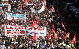 Μεγάλη κινητοποίηση πέτυχε χθες το συνδικάτο CGT στη Μασσαλία κατά της μεταρρύθμισης που προωθεί η κυβέρνηση Μακρόν.