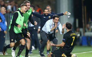 Γκολ απαράμιλλης ομορφιάς πέτυχε με εκτέλεση φάουλ ο Λάζαρος Χριστοδουλόπουλος, χαρίζοντας τη νίκη, στην επιστροφή της ΑΕΚ στην Ευρώπη.
