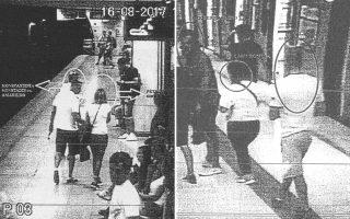 Φωτογραφίες από τις κάμερες παρακολούθησης που περιλαμβάνονται στη δικογραφία.