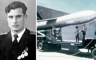 Αριστερά, ο Βασίλι Αρχίποφ σε επίσημη στρατιωτική φωτογραφία. Δεξιά, στιγμιότυπο από την αμερικανική στρατιωτική βάση στην Οκινάουα της Ιαπωνίας, όπου υπηρετούσε ο Ουίλιαμ Μπάσετ.