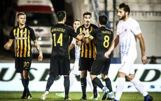 Η ΑΕΚ επικράτησε της Λαμίας με 2-0, με σκόρερ τους συνήθεις υπόπτους της, Λάζαρο Χριστοδουλόπουλο και Πέτρο Μάνταλο.
