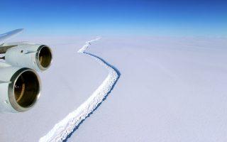 Το τεράστιο παγόβουνο που αποκολλήθηκε από την παγοκρηπίδα Λάρσεν της Ανταρκτικής ζυγίζει πάνω από ένα τρισεκατομμύριο τόνους.