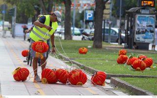 Η Θεσσαλονίκη «ντύνεται» Τσάινα Τάουν για τη ΔΕΘ, όπου η Κίνα είναι φέτος η τιμώμενη χώρα.