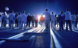 Σκηνή από την ταινία «Στενές επαφές τρίτου τύπου» (1977) που θα προβληθεί στο πλαίσιο των παράλληλων δράσεων μαζί με άλλα κλασικά φιλμ sci-fi.
