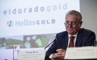 Ο πρόεδρος και CEO της Eldorado Gold, Τζoρτζ Μπερνς.