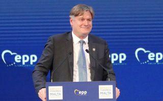 Αντόνιο Λόπεζ - Ιστούριζ Ουάιτ, γ.γ. του Ευρωπαϊκού Λαϊκού Κόμματος.
