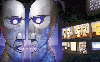 Αποψη από την έκθεση «The Pink Floyd Exhibition: Their Mortal Remains», που συνεχίζεται έως τις 15/10.