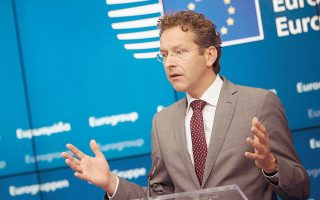 Απαντώντας σε ερώτηση της «Κ», ο εκπρόσωπος του κ. Ντάισελμπλουμ ανέφερε ότι ο πρόεδρος του Eurogroup θα συζητήσει «τρέχοντα θέματα της Ευρωζώνης και φυσικά την πορεία του προγράμματος προσαρμογής».