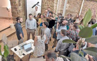 Ο πρωθυπουργός Αλ. Τσίπρας κατά την επίσκεψή του στο Impact Hub Athens έστειλε μήνυμα υποστήριξης στη νεοφυή επιχειρηματική δραστηριότητα.