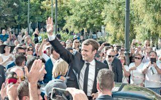 «Η Ελλάδα επανέρχεται στην ανάκαμψη», τόνισε ο Γάλλος πρόεδρος Εμανουέλ Μακρόν.
