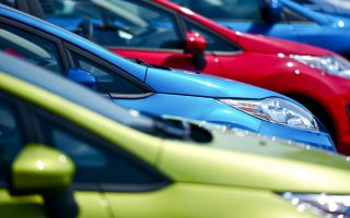 10644983 - colorful cars stock. small european vehicles in stock. many colors to choose from. dealership cars stock. transportation photo collection