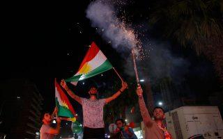 Οι Κούρδοι πανηγύρισαν παντού το 93,7% του δημοψηφίσματος της περασμένης Δευτέρας.