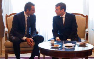 Η Ελλάδα θα διεκδικεί ρόλο ισότιμου εταίρου και όχι επαίτη στις ευρωπαϊκές εξελίξεις, σημείωσε ο πρόεδρος της Ν.Δ. Κυριάκος Μητσοτάκης μετά τη συνάντηση που είχε, την Παρασκευή, με τον Γάλλο πρόεδρο Εμανουέλ Μακρόν.
