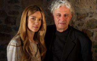 Η ηθοποιός Ιωάννα Παππά με τον σκηνοθέτη Δήμο Αβδελιώδη.