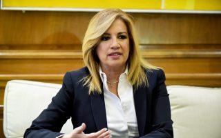 Η Φώφη Γεννηματά το Σαββατοκύριακο θα βρεθεί στα Ιωάννινα και στη Θεσσαλονίκη.